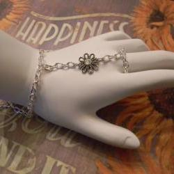 Ring/Bracelet - Flower - Swarovski Crystal - Adjustable